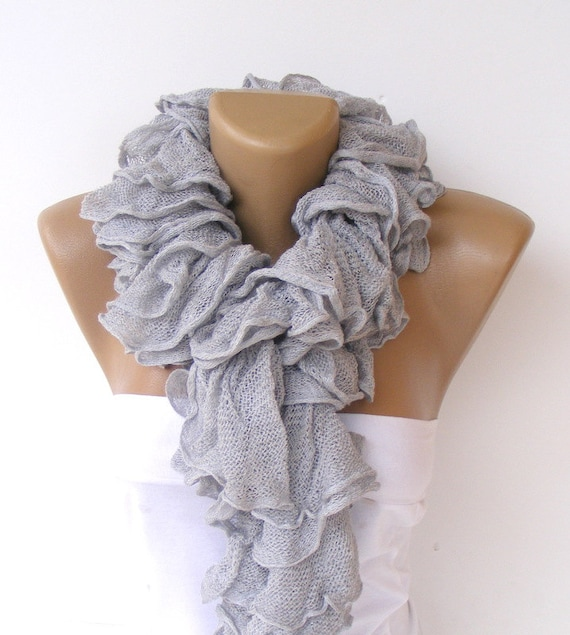 ruffle scarf knitted scarves 2014 scarf trends cotton