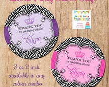 ZEBRA FAVOR TAGS - any colour available - You Print