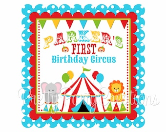 COLORFUL CIRCUS welcome sign - YOU Print - digital file
