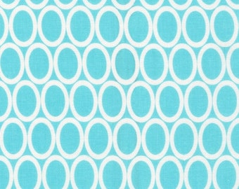 Half Yard Remix Ovals in Aqua, Ann Kelle for Robert Kaufman Fabrics, 100% Cotton Fabric