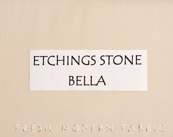 One Yard Etchings Stone Bella Cotton Solid Fabric from Moda, 9900 178