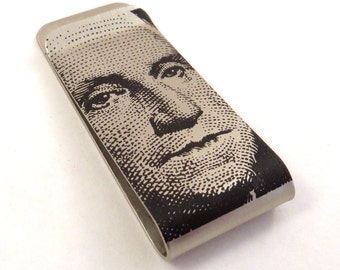 Dollar Bill design Money Clip / Hat Clip