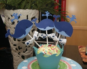 Popular items for whale cupcake topper on etsy for Anchor decoration runescape