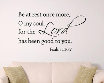Lord, Psalm 116:7 bible verse Wall Art