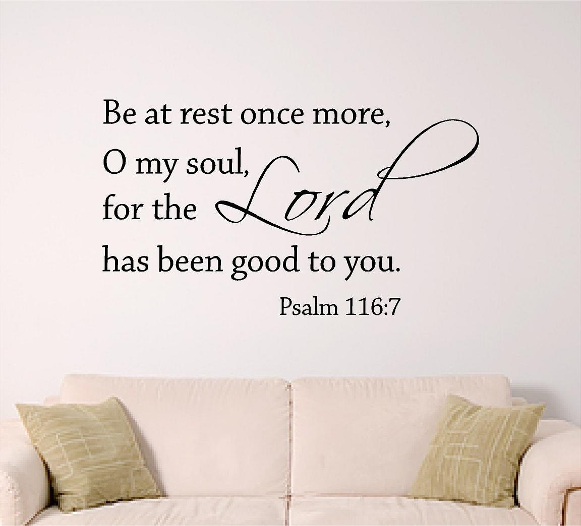 Lord Psalm 116 7 Bible Verse Wall Art