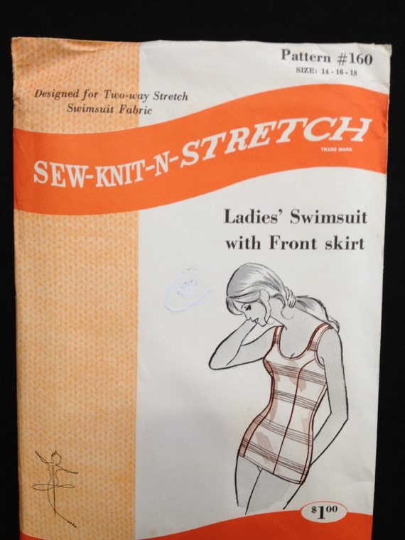 Sew-knit-n-Stretch 160 Ladies Swimsuit with front skirt