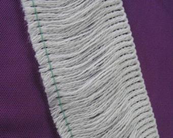 Vintage fringe Ribbon white cotton
