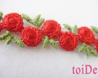 VINTAGE  FLOWERS RIBBON