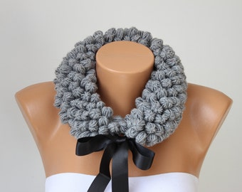 Neckwarmer Crochet scarf, crochet scarf, woman scarf gift  -COLOR OPTION AVIABLE