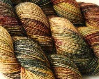 sw merino wool nylon sock yarn BANSHEE hand dyed fingering weight