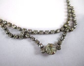 Vintage Rhinestone Silvertone Necklace
