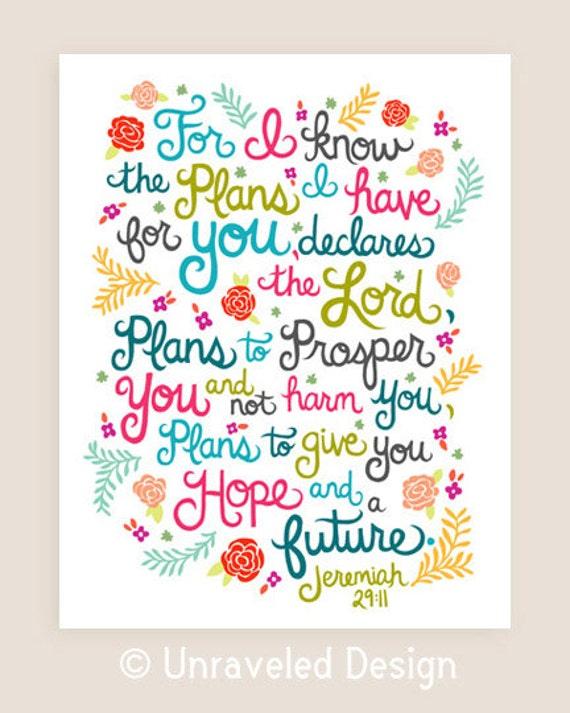 8x10-in Jeremiah Scripture Illustration Print.