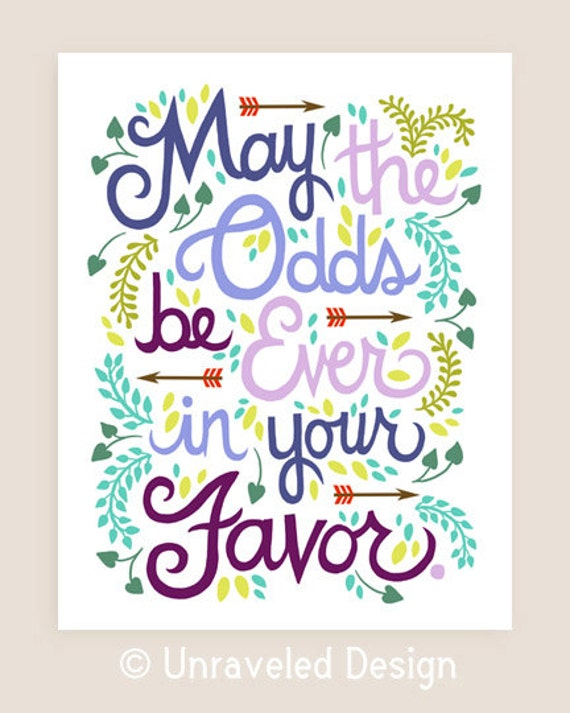 8x10-in Hunger Games Quote Illustration Print.