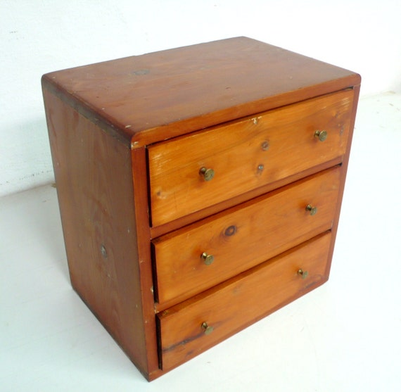 Vintage Small Wooden Cabinet With Drawers By DACAIS On Etsy