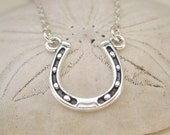Lucky SIlver Horseshoe Necklace - Sterling Silver Jewelry - Silver Horse Shoe Necklace