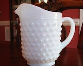 Hobnail Milk Glass Pitcher