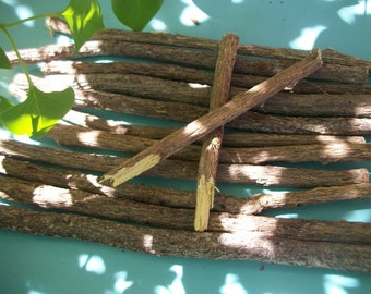 "LICORICE ROOT - 1 Whole Stick 7"" - 8"" ~ Licorice Wand"