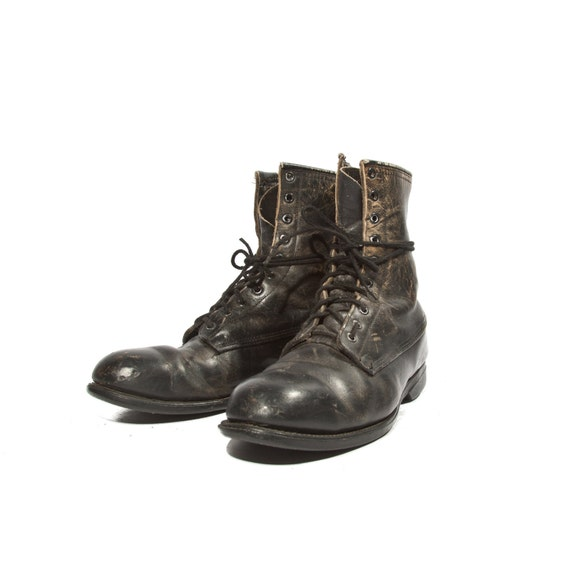 Men's Vintage Combat Boots Steel Toed Addison Boots Dated