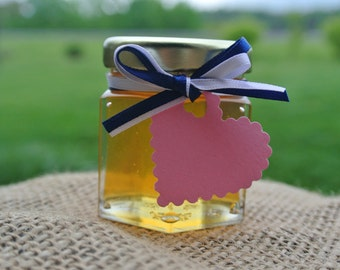 Edible Party Honey Favors, Hex Jars 72