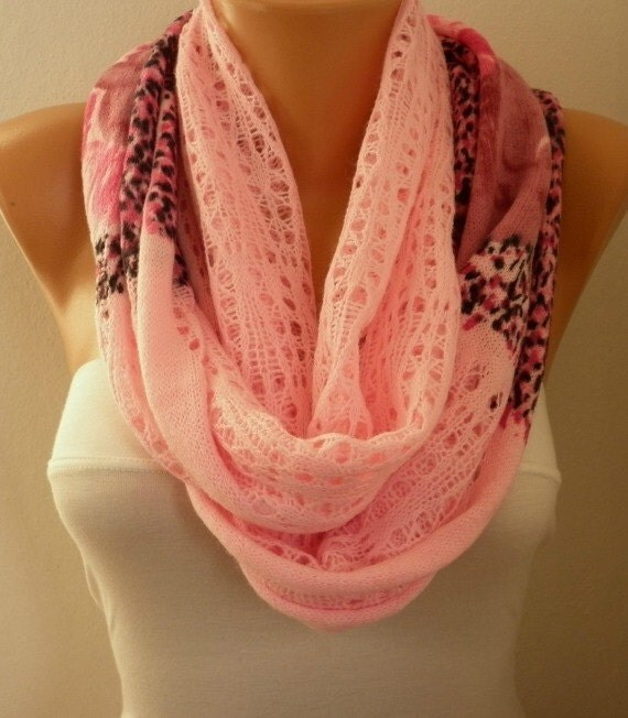 celebrations pink infinity scarf easter winter by