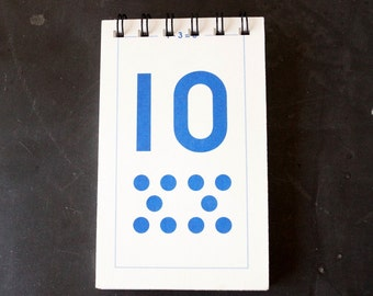 Vintage Flash Card Notebook, Number 10 (50 various pages) - Perfect for To-Do Lists, Shopping Lists, and Big Ideas