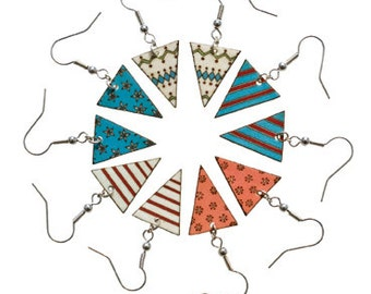 SALE Mix 'n' Match Bunting Earrings.  75% OFF!
