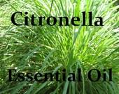 2 oz Pure CITRONELLA ESSENTIAL OIL - Full Strength - Organic - Pure