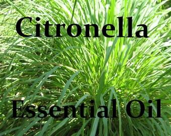 CITRONELLA ESSENTIAL OIL (.5 or 1 oz. size) Full Strength - Organic - Pure