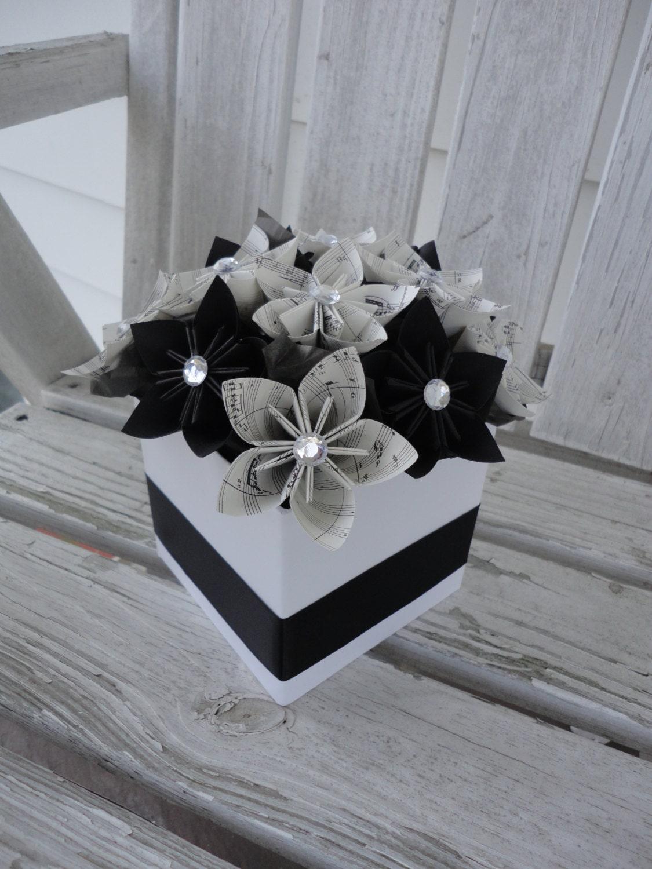 sheet music centerpieces origami kusudama paper flower