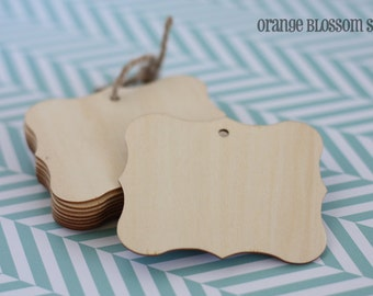 Unfinished Wooden tags set of 10