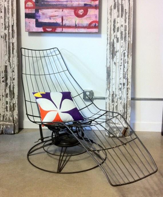 Vintage 1950 S Homecrest Siesta Wire Lounge Chair New
