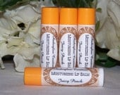 CLOSING SALE Shea Butter Lip Balm PEACH No Parabens With Vitamin E
