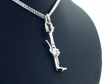 Sterling Silver Welders Cutting Torch Pendant c/w Chain