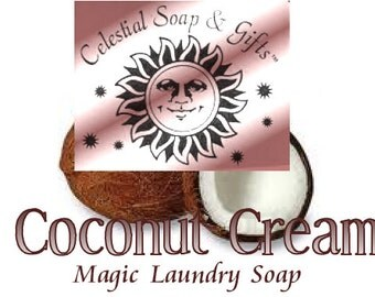 Coconut Cream Natural VEGAN Laundry Soap Powder 6 oz. SAMPLE 5-10 LOADS