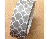 Washi Tape - Quatrefoil Pattern - Grey (10M)