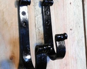 Pair of light Gun Hooks designed specifically to hang rifles & shotguns hand forged by a blacksmith in the USA