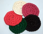 Crochet Facial Scrubbies, make up remover clothes