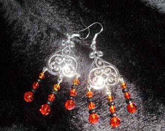 Swarovski Dangle Heart Earrings