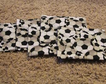 Party Favors-15-Reusable Sandwich Bags-Soccer