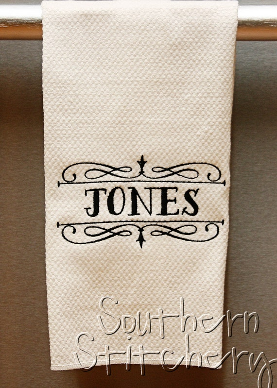 Personalized Couples Hand Towel Kitchen Towel By Southernstitchery