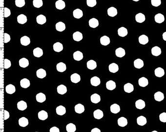 Jumbo Dots Black / White Fabric Yard by Loralie