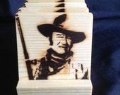 John Wayne Wood Coasters
