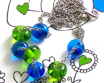 Handmade Glassblown Murano Italian Glass Necklace by DeMarie