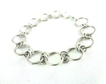 Chainmaille Bracelet Heavy Metal Biker Jewelry