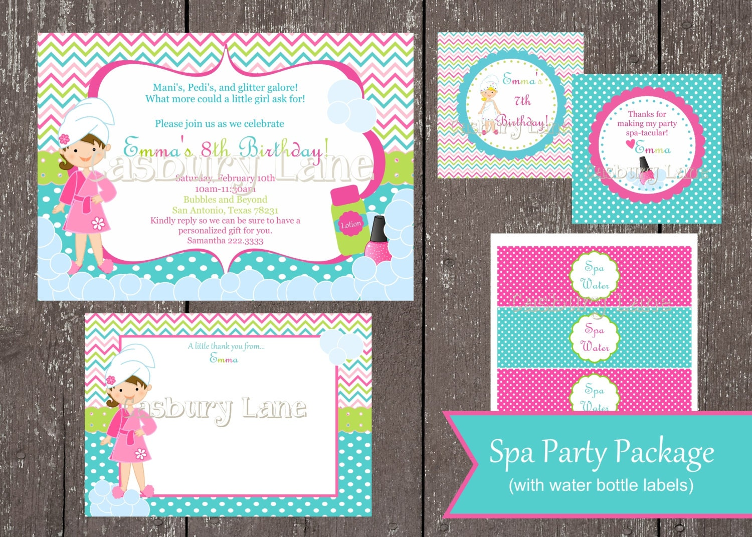 Spa Party Girls CollectionCasbury Lane – Girls Spa Party Invitations