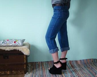 Vintage 80's High Waisted Jeans/high waist PANTS MOM JEANS