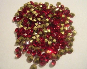 Red Point Back Rhinestone PP14 - 144pc