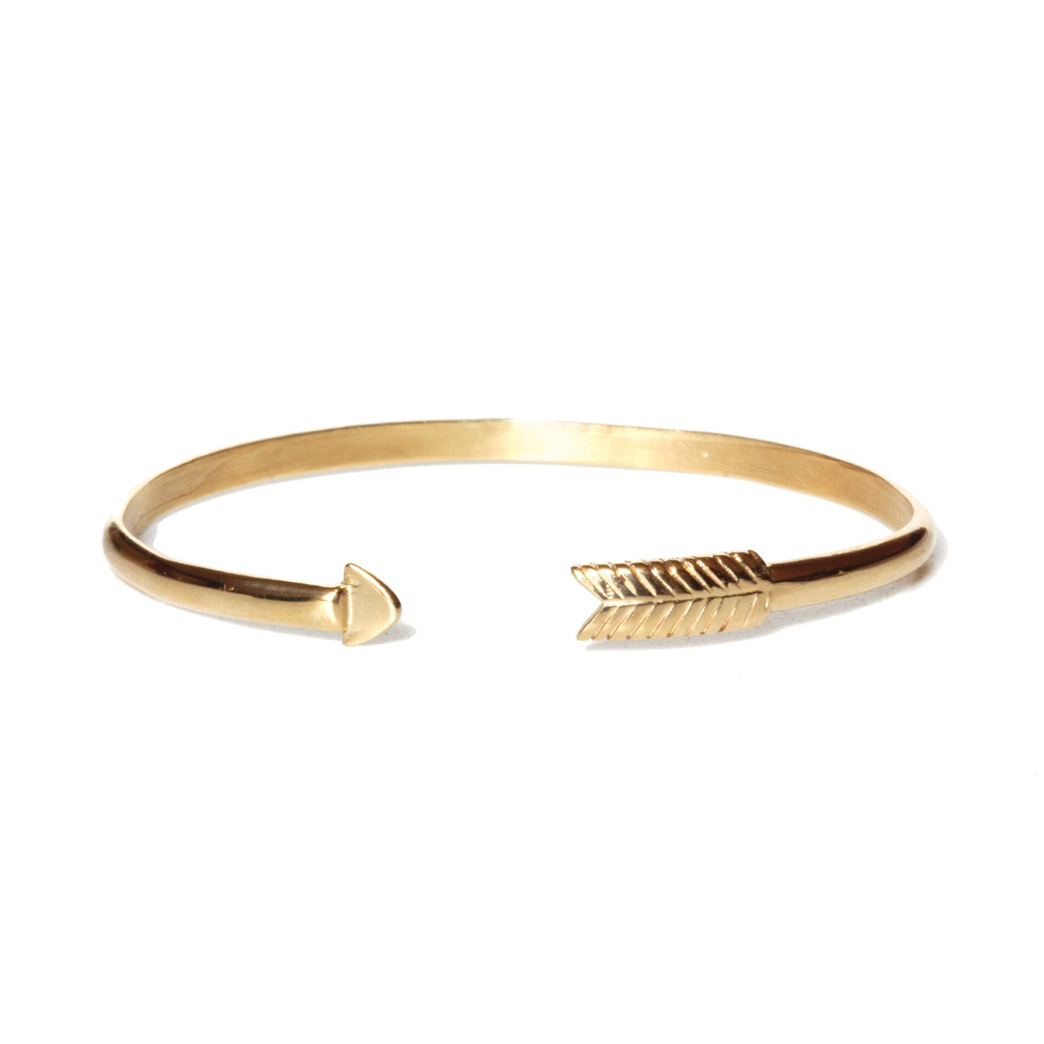 cupid s arrow bracelet carved in 18k gold plated by