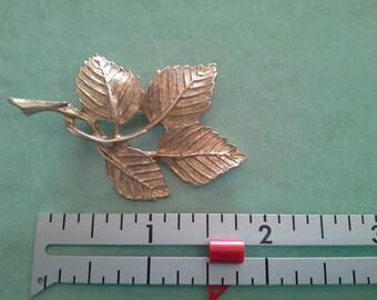 Goldtone Leaf Pin