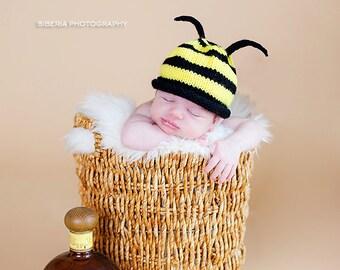 Bumble Bee Newborn Hat
